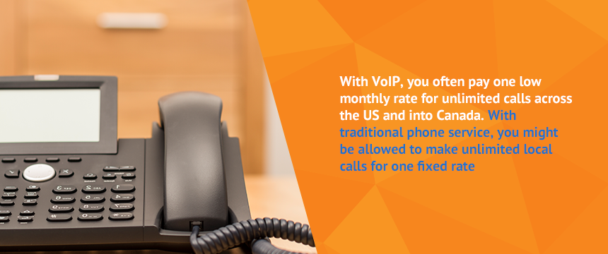 reduced cost of voip